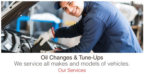 We service all makes and models of vehicles.